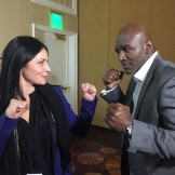 Evander Holyfield and Anna Dragost