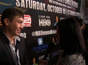 Gennady Golovkin and Anna Dragost